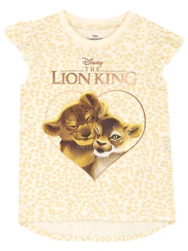 Disney Mädchen König der Löwen T-Shirt The Lion King Gelb 116 (König Der Löwen T Shirt Kinder)