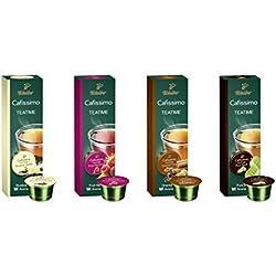 Tchibo Cafissimo Tee Sorten Mix, Früchtetee, Roibos Vanilla, Pure Black, Oriental Chai, Probierbox - 40 Bio-Tee-Kapseln
