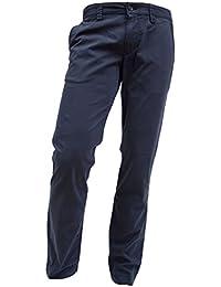 ALBERTO Regular Slim Fit Hose Gesäßtaschen mit Knöpfe dunkelblau
