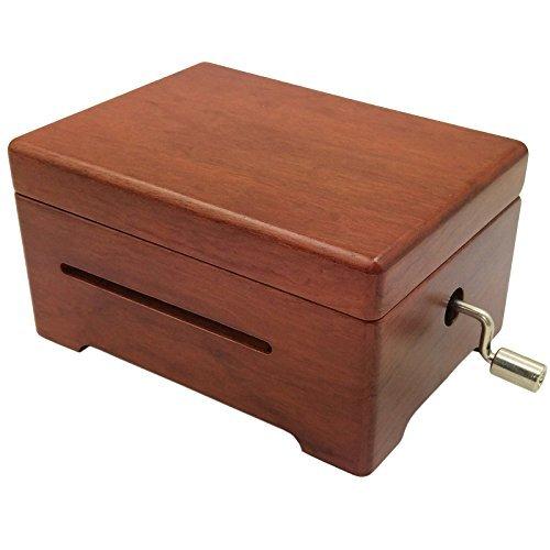 Wingostore Caja de música de madera 30 Nota hacer Yr Own canción con kit de herramientas