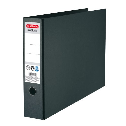 Herlitz 10397073 Ordner maX.file Hartpappe A3quer, 7,5cm, Farbe schwarz