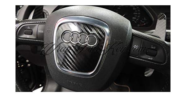 Q5 A4 A5 TT A3 RS Q7 schwarz Q3 A6 Airbag-Lenkrad-Abdeckung aus Carbonfaser f/ür Audi S A8 A1