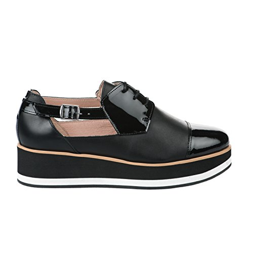 Miglio In Chaussures Millim À Azaru Noir Co22091a Lacet Femme rxgqfWr8wY