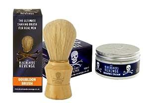 Traditional Shaving Brush and Creme Gift Set