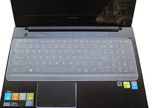Kmltail Semi-Transparent Universal Silicone Keyboard Protector Cover Skin for Lenovo Ideapad Flex 14 (59-411867) Notebook  Keyboard skin  available at amazon for Rs.129