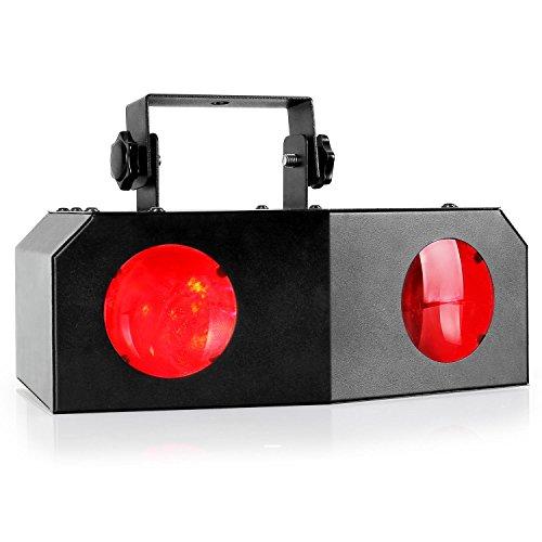 Beamz Nomia LED-Lichteffekt RGB-Dual-Moonflower Disko Strahler für Bühnenbeleuchtung (6 RGB-LEDs, Musiksteuerung, einstellbare Geschwindigkeit,...