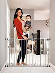 Regalo Easy Step 49-Inch Extra Wide Baby Gate, Includes 4-Inch and 12-Inch Extension Kit, 4 Pack of Pressure M
