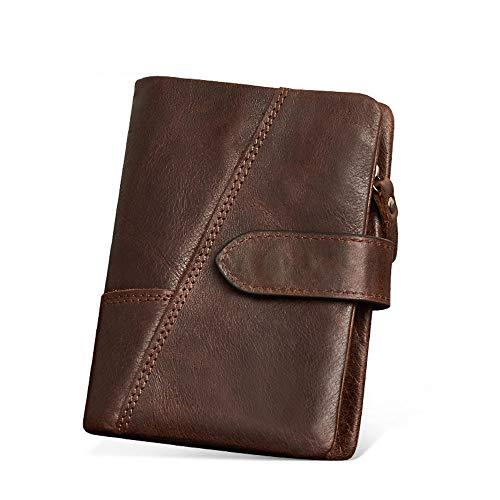 - Grain-leder-geld-clip Brieftasche (AUMING Geldbörse Herren Multifunktionshandtasche der Männer Hochleistungs-echtes Leder-Retro- dauerhafte Freizeit-Handtasche für Geschäfts-Gelegenheiten und Partei und Reise)