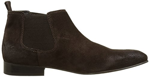 Base London Herren Broker Chelsea Boots Marron (Brown Greasy Suede)