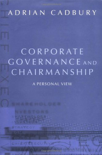 PDF][Download] Corporate Governance and Chairmanship: A