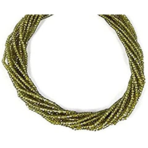 2 Strand Finest Quality Natural Peridot Cubic