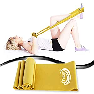 Tdas Unisex Resistance Bands - 1.5Meters for Exercise, Legs, Gym, Workout, Pull ups (Therabands, Extra-heavy Golden)