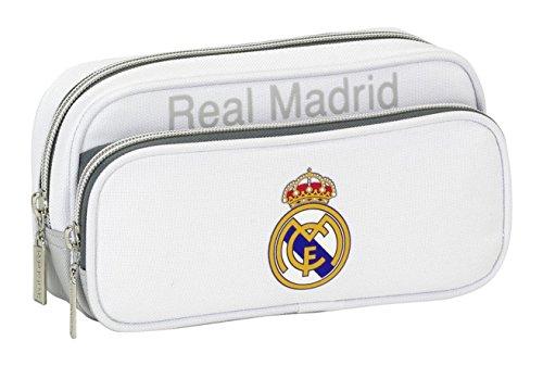 Real Madrid CF – Estuche Portatodo con Bolsillo (SAFTA 811624602), Color Gris