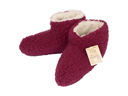 Cats Collection Bettschuhe Wolle bordeaux 42/43