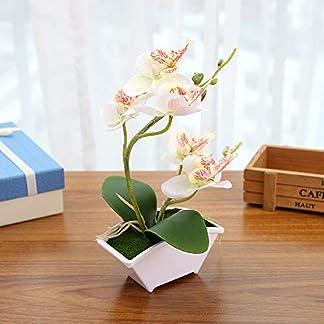 Hanbaili Flor De Simulación Moda Flor Artificial with Orquídea Polilla Plástico Adorno Boda