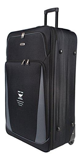 66cm leicht erweiterbarer Koffer, 65 Liter Schwarz schwarz 66 cm (Nylon-koffer)