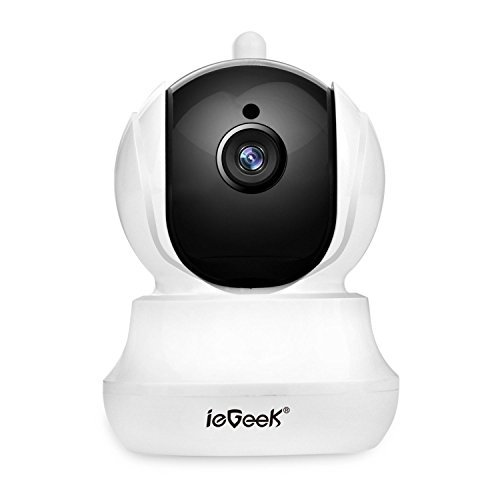 ieGeek WiFi IP Camera 720P HD Wireless Indoor Home CCTV Camera with 2 Way Audio, Pan/Tilt , Day Night Vision, Elder Baby…