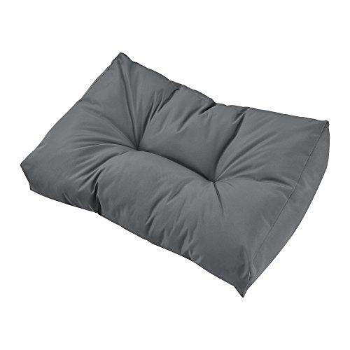 [en.casa] 1x Rückenkissen für Euro-Paletten-Sofa [Hellgrau] Palettenkissen Auflage in/Outdoor Polster Möbel