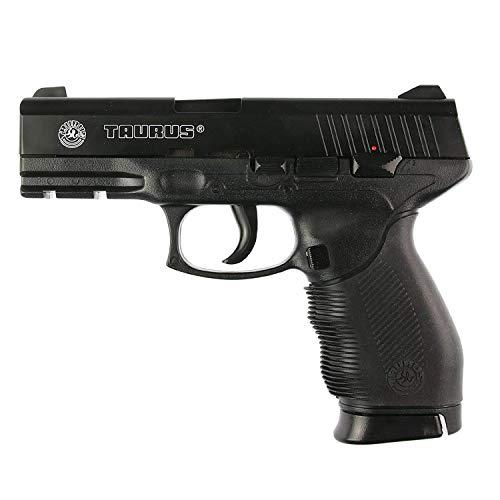 KOSxBO® Set: Taurus Softair Pistole PT 24/7 Kaliber 6 mm < 0.5 Joule mit Zwei Magazinen und 2000 Premium 0,20g Airsoft Munition