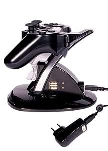 Artwizz ChargingStand Doppelladestation für PlayStation 3 (inkl. USB-Ladegerät) schwarz