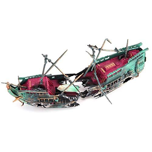 Aquarium Deko Schiff Schiffswrack Höhle Wasser Ornament, Kunstharz Simulation Aquarium Dekor Für Kleine Garnele Fisch Schildkröte -