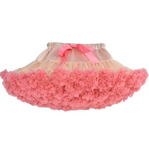 SCFL erwachsene luxuriöse weiche Chiffon Petticoat Tüll Tutu Rock Damen Tutu Kostüm Petticoat Ballett Tanz Multi-Layer Puffy Rock (Sarees Für Tanz Kostüm)