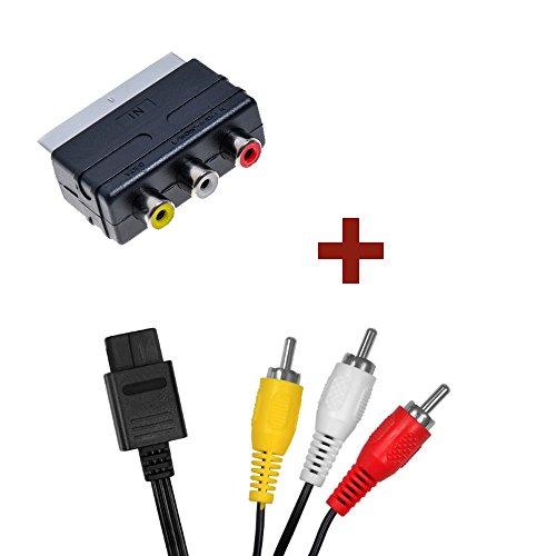 AV-Kabel + Scart-Adapter für Nintendo 64 Super Nintendo Gamecube N64 SNES GC