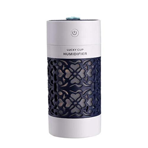 WULIHONG-humidifierMini Humidificador de Aire Difusor de aceites Esenciales con Luces nocturnas de Color Aromaterapia eléctrica Humidificador USB Difusor de Aroma de CocheAzul Profundo