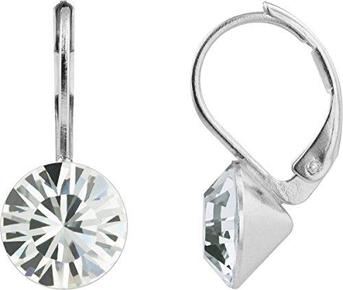 Petra Kupfer Damen Ohrringe Ohrhänger Rivoli 1 Swarovski®-Kristall Transparent Versilbert hk39tb-crystal