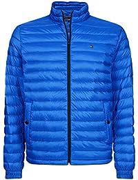Tommy Hilfiger Hombres Packable Chaqueta Ligera Azul