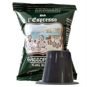 100 Capsule caffè GATTOPARDO decaffeinato compatibili Nespresso