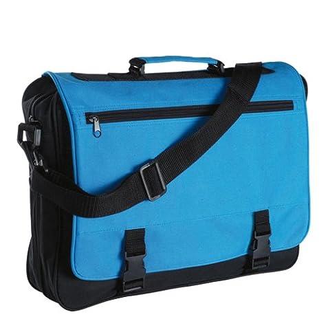 eBuyGB® Messenger Bag pour l'école, de collège et de travail - réunion sac (noir et bleu)