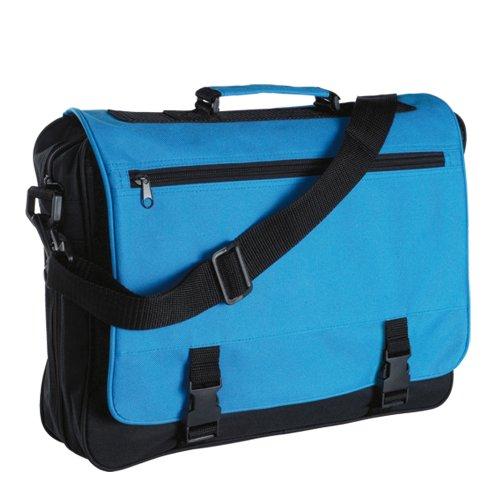 Messenger Bag fÙr Schule, Hochschule und Arbeit - Schultertasche Meeting Black & Blue