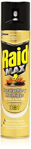 raid-max-cucarachas-y-hormigas-3-en-1-mata-las-cucarachas-y-sus-huevos-300-ml-pack-de-2