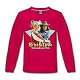 Spreadshirt Bibi Und TinaTohuwabohu Total Freundinnen Kinder Premium Langarmshirt, 134/140 (8 Jahre), Dunkles Pink
