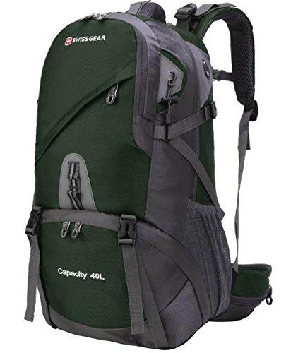 Bulage Borse Trekking Alpinismo Il Tempo Libero All'aperto Viaggi Campeggio Backpacking Ad Alta Capacità Impermeabili Borse Studenti Sportivi Green