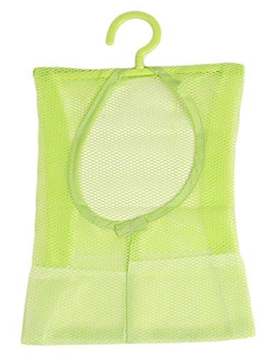 Lalang Multipurpose Clothespin Beutel mit Aufhänger, Küche Badezimmer Aufbewahrungstasche, hängender Speicher-Netztasche für Tür zu hängen (grün)