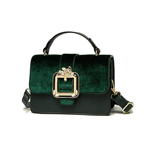 Klassische Flap Clutch (ZIHUINI Paket Neu Getäfelte Damen Geldbörsen und Handtaschen Luxusmode Diamant Schulter Messenger Bags Clutch Purse Flap)