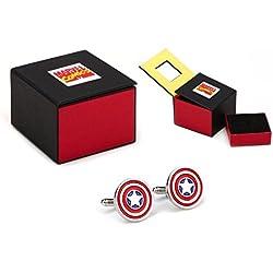 Marvel Capitán América - Gemelos, diseño del escudo del Capitán América, color