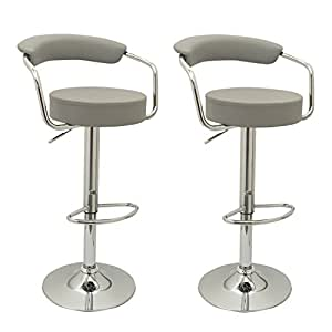 homefresco pair of toledo bar stools with backrest top