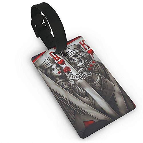 Love25632 Gepäckanhänger King Queen-Ace of Spades - Reise-Etikett für Gepäck, Koffer, Taschen, Größe 7 x 10,9 cm