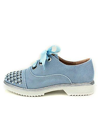 Cendriyon Derbies Bleues Pinkas Mode Chaussures Femme Bleu