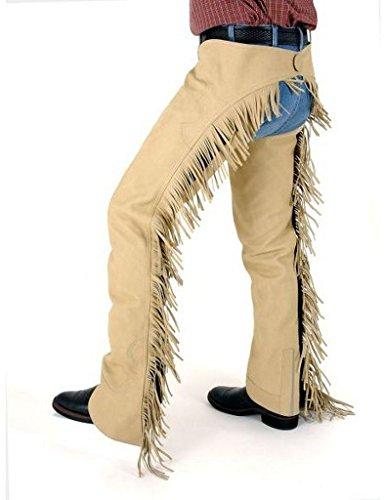 Tough 1 Robust 1Synthetischer Wildleder Western Show Chaps, Damen, Sand, Medium Western Show Chaps