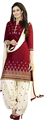 Cative Company Cotton Embroidered Salwar Suit Dupatta Material (Un-Stitched)