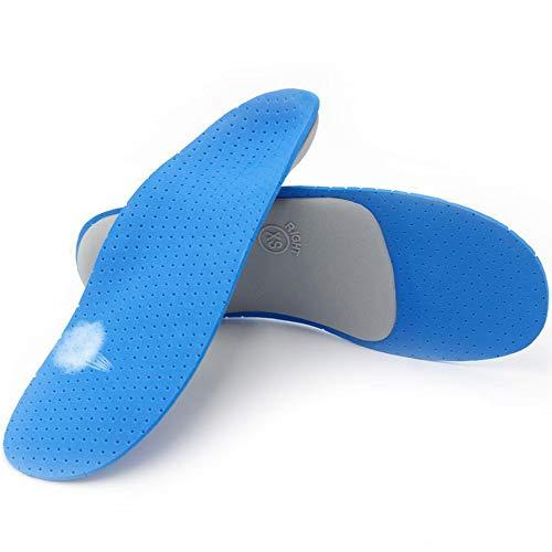 JAK0 Füße Einlegesohle Niedriggewölbte Einlegesohlen Schmerzlindernde Einlegesohlen für Männer Frauen-Für Plantarfasziitis, Laufen, Plattfüße, Two1 Paar,L