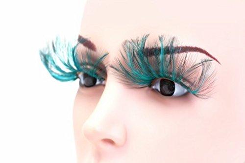jytop® New 3Paar Deluxe Party Feder falsche Wimpern Eye Lashes für Halloween Party (Halloween Wimpern Falsche)