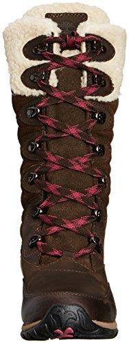 Timberland Wilood FTP_EK WP INS, Stivali da neve, con caldo rivestimento interno Donna Marrone (Braun (DARK BROWN))