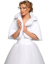 veste femme demoiselle dhonneur pour marie mariage imitation fourrure de vison bolro cape tole - Bolero Fourrure Mariage