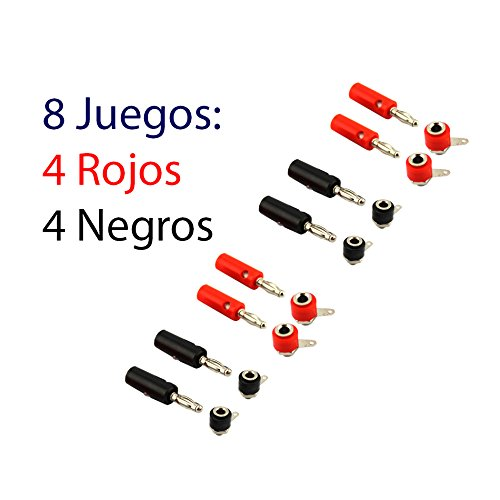 Bananenstecker-Set 8 Rojo-Negro