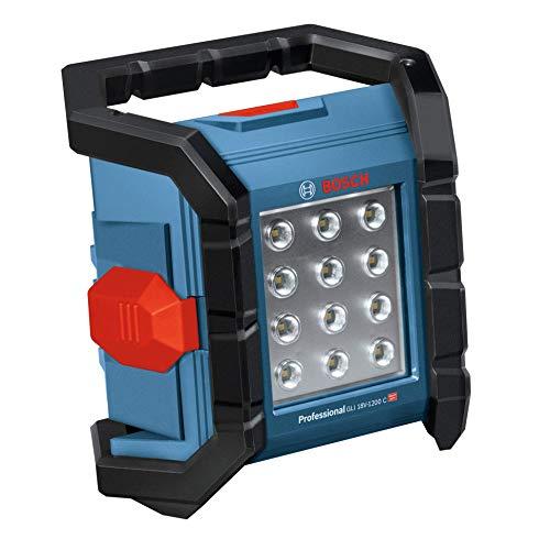 Bosch Professional Akku Baustellenlampe GLI 18V-1200 C (ohne Akku, 14,4/18V, max. Helligkeit 1200 Lumen, im Karton)